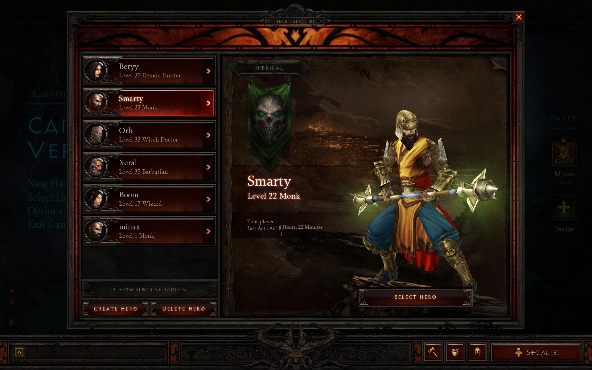 Diablo 3 Interface